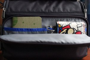 Front pocket in use.