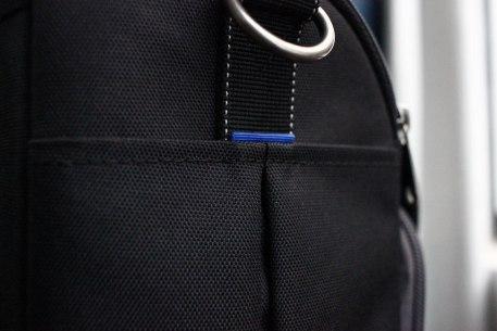 Regular nylon pocket. Safer, but stiffer. Good for caps and cash, or your wallet.