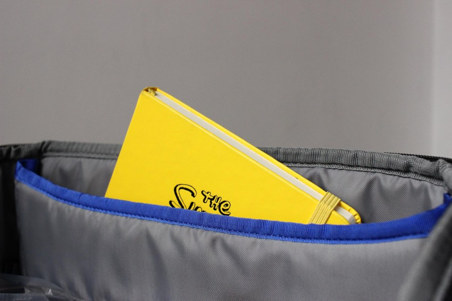 iPad pocket fits an A5 notebook and bigger.