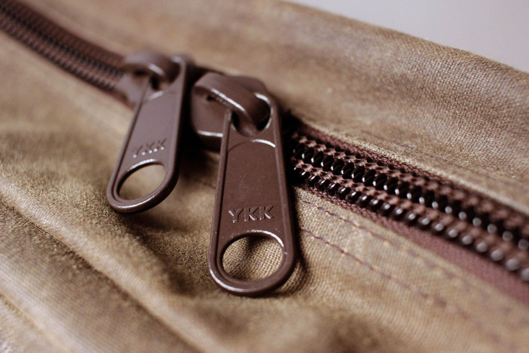 Giant YKK zippers.