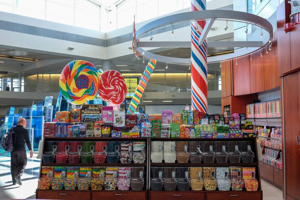 Natalie's Candy Jar at Dallas/Ft. Worth International Airport, USA.