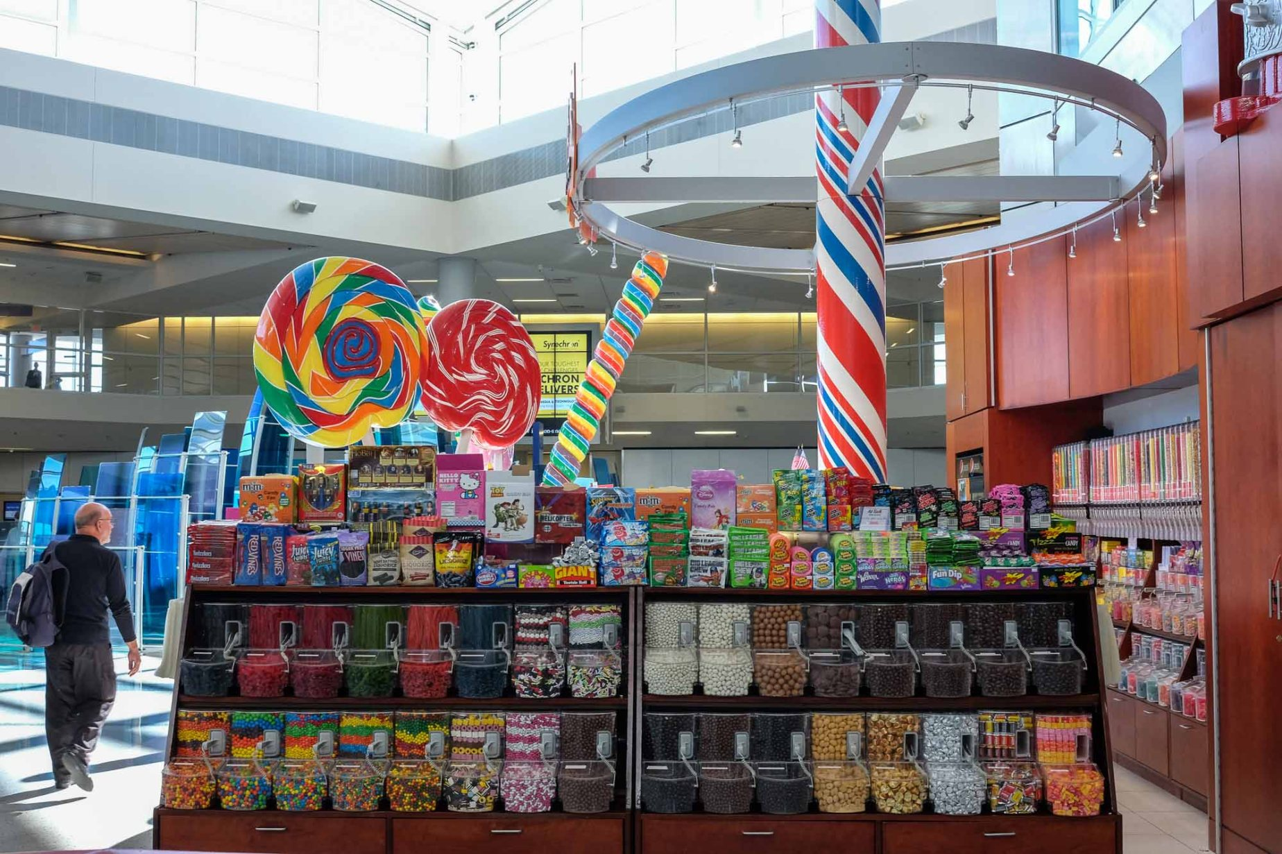 Natalie's Candy Jar at Dallas/Ft. Worth International Airport, USA.