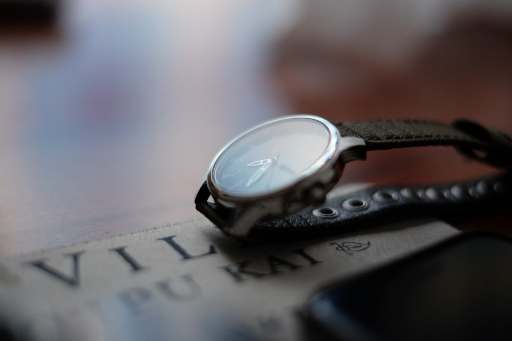 Extra thin depth of field. Notice the focus was on the crown of the watch (the side knob) and there's barely any more watch in focus.